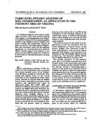 The economics of soil erosion theory