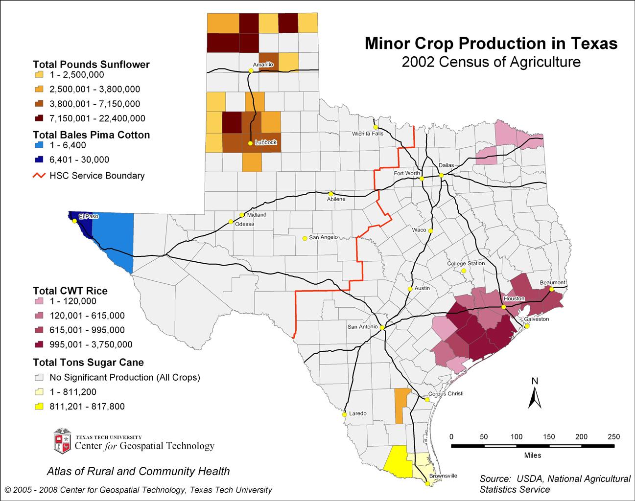 Texas Crops Map