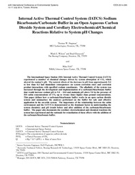 Internal Active Thermal Control System (IATCS) Sodium
