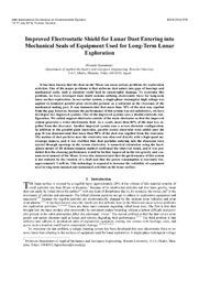 Improved Electrostatic Shield for Lunar Dust Entering into