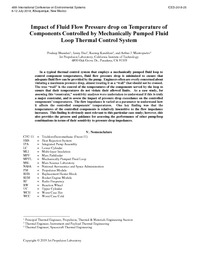 Impact of Fluid Flow Pressure drop on Temperature of Components